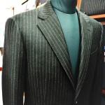 フランネルのチョークストライプ・スーツ