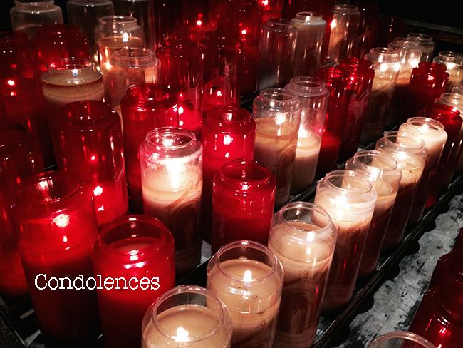 哀悼の意condolences