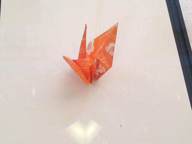 オバマ大統領の折鶴