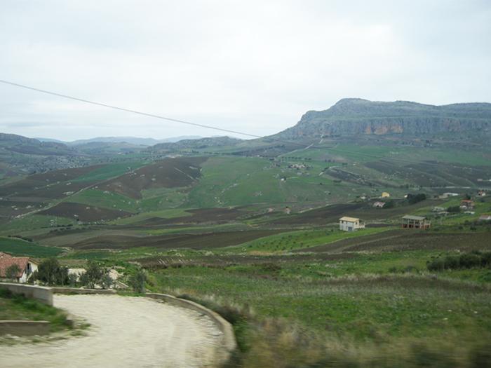 シチリア島の山間
