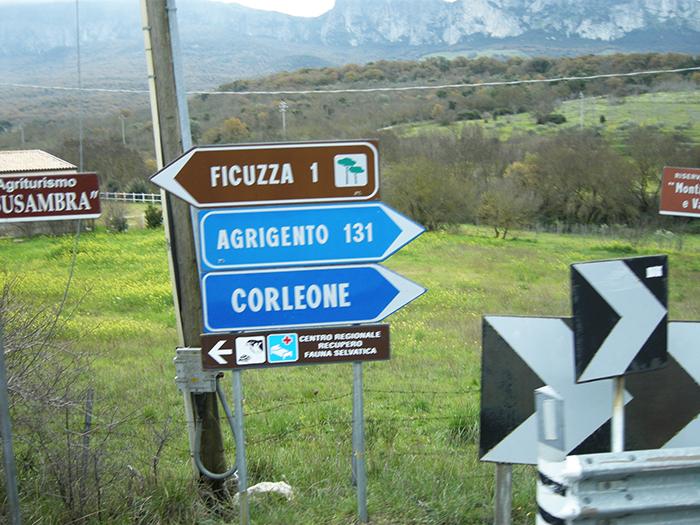 コルレオーネ村標識