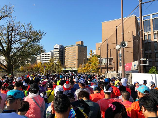 大阪マラソンスタート前