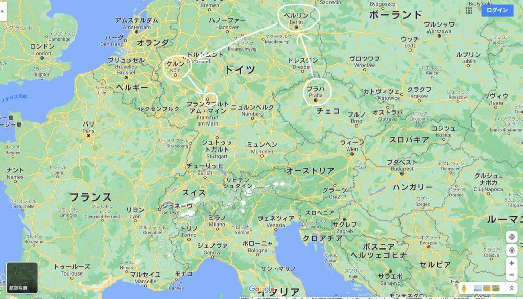 プラハ地図